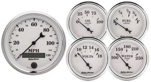 Auto Meter 1200 - Auto Meter Old Tyme White II Gauges