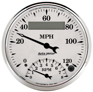 Auto Meter 1290 - Auto Meter Old Tyme White II Gauges