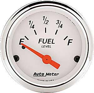 auto meter 1318 arctic white fuel level gauge 2 1 16 electrical jegs rh jegs com Auto Meter Fuel Level Gauge Wiring Auto Meter Fuel Level Gauge Wiring