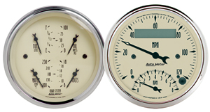 Auto Meter 1820 - Auto Meter Antique Beige Gauges