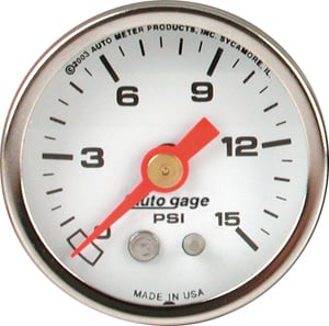 Auto Meter 2175 - Auto Meter 1-1/2'' Direct Mount Pressure Gauges