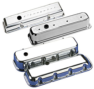 Billet Specialties 95123 Script Short Valve Cover for Small Block Chevy