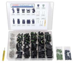 Caspers Electronics 103005 - Caspers Electronics Weatherpack And Metripack Connector Kits & Refills