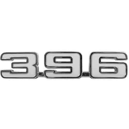 "1969 Camaro /""396/"" Trim Parts 6760 Front Fender Emblem"
