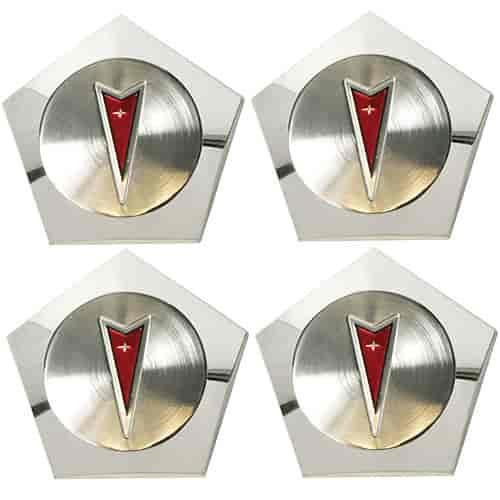 Year One 234nr Pontiac Center Caps Red Arrowhead Logo Jegs