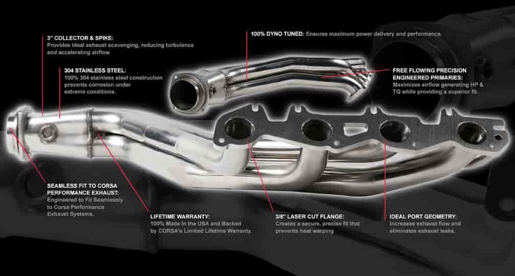 Corsa Long-Tube Headers | JEGS