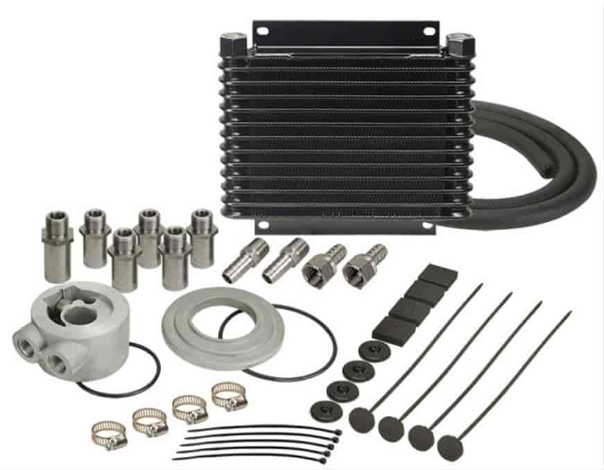 Derale 15405 - Derale Engine Oil Cooler With Sandwich Adapter Kits