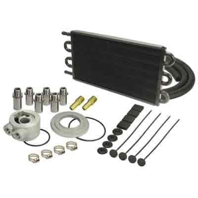 Derale 15505 - Derale Engine Oil Cooler With Sandwich Adapter Kits