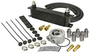Derale 15602 - Derale Engine Oil Cooler With Sandwich Adapter Kits