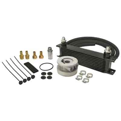 Derale 15603 - Derale Engine Oil Cooler With Sandwich Adapter Kits
