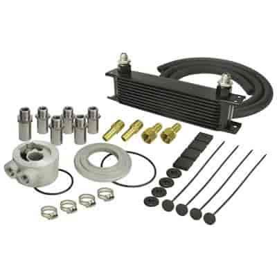 Derale 15605 - Derale Engine Oil Cooler With Sandwich Adapter Kits