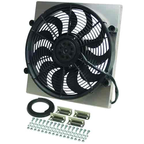 Derale 12quot Highoutput Electric Radiator Fanandshroud Assembly