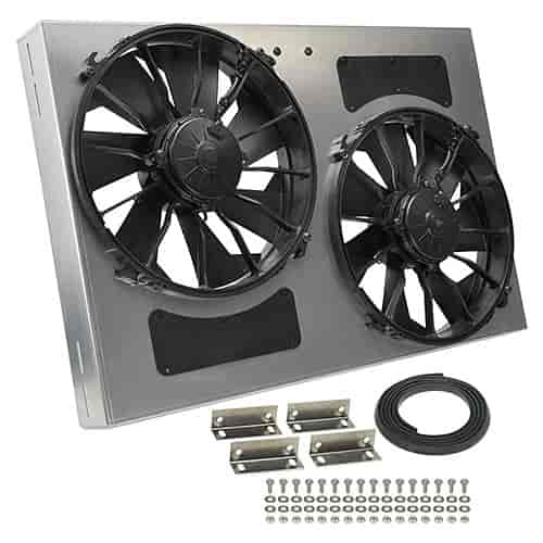 Derale High-Output Dual Fan Assembly CFM: 4000