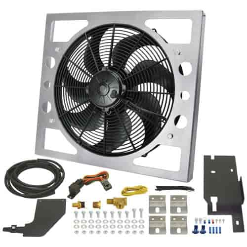 Derale 20161 - Derale Direct Fit Jeep Performance Electric Fan Kit