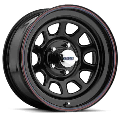 Cragar 342-7760 - Cragar Black ''D'' Window Steel Wheels