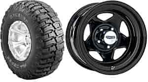 Cragar 365-5812K - Cragar ''V''-5 Series Wheels & Dick Cepek Crusher Tire Packages
