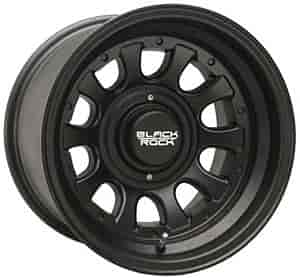 Black Rock 909B785345 - Black Rock 909-Series Type D Matte Black Wheels
