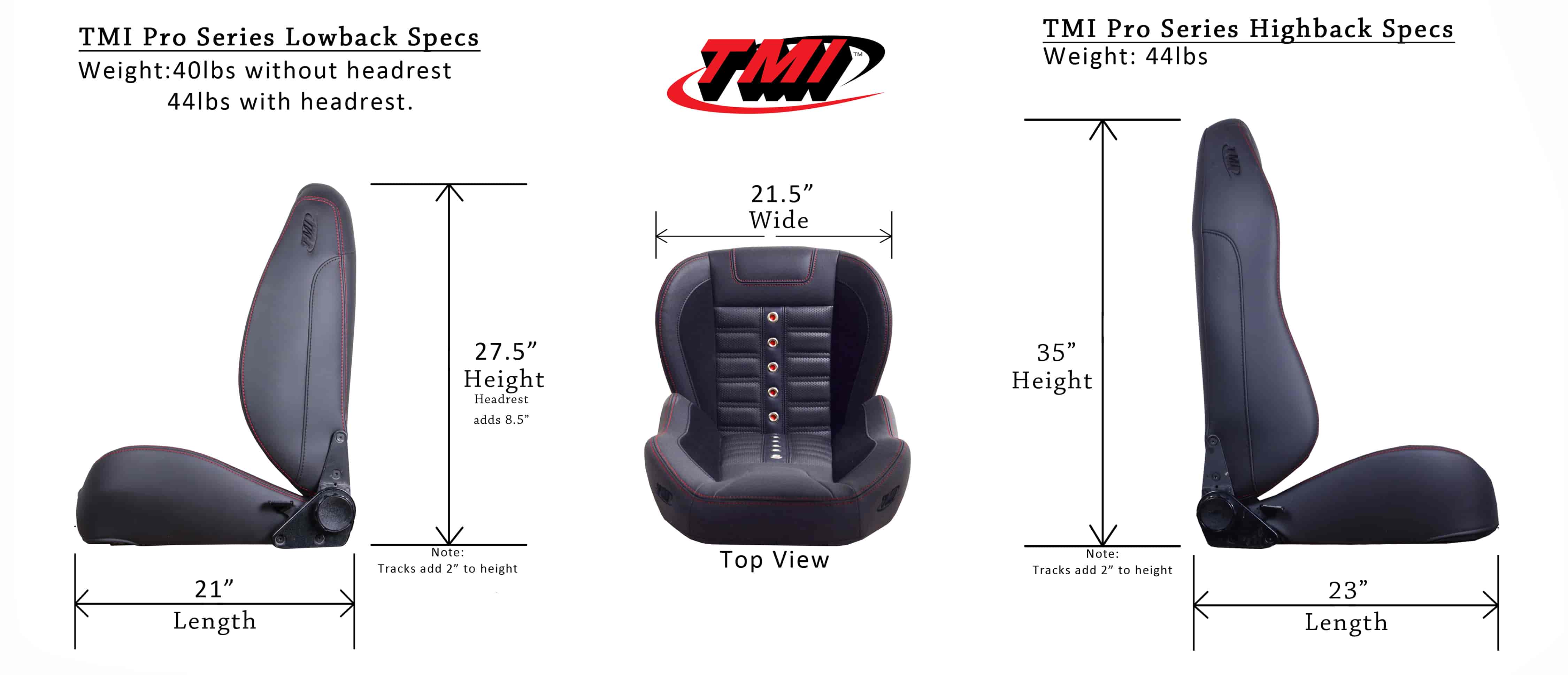 TMI Products Pro Series Seats | JEGS