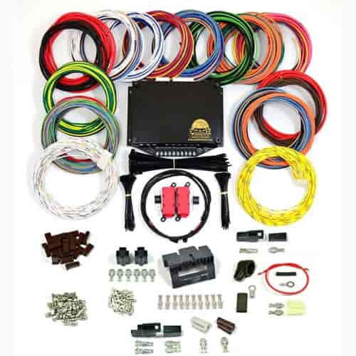 coach controls coach 1 coach 1 complete wiring kit universal street rh jegs com Custom Wiring Harness Kits Ford Wiring Harness Kits