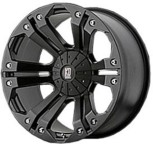 American Racing 77824167744N - American Racing Monster Series XD778 Matte Black Wheels