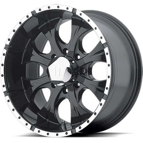 American Racing 7917987312AA - American Racing Black Helo Series 791 Wheels