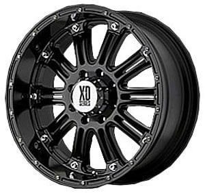 Wheel Pros 79568068300 - American Racing Gloss Black Hoss Series XD795 Wheels