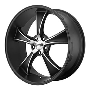 American Racing 80521012738 - American Racing VN805 Series Satin Black BLVD Wheels