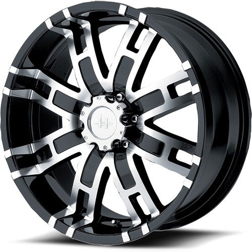 American Racing 83578087300 - Helo HE835 Series Black w/Machined Finish Wheels