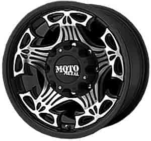American Racing 90989087318 - American Racing Skull Series MO909 Gloss Black Wheels
