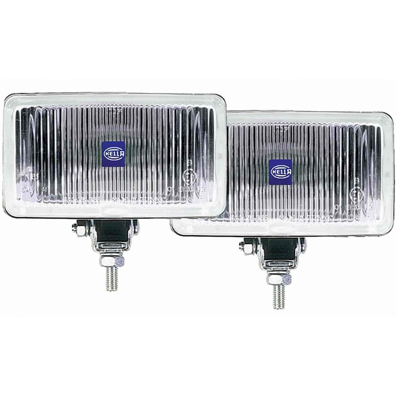hella 005860601 450 fog lamp kit rectangle clear lens