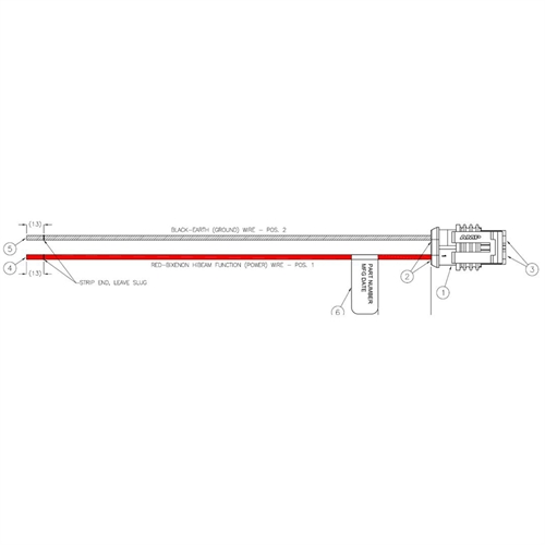 Hella 90mm Bi-Halogen Bi-Xenon V2 Shutter Pigtail #H84985461
