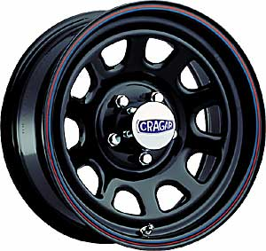 Cragar 342-5860P - Cragar Black ''D'' Window Steel Wheels