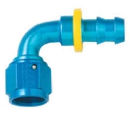 90/° Push Lock Hose Fitting -10 Fragola 209010-BL Black Size