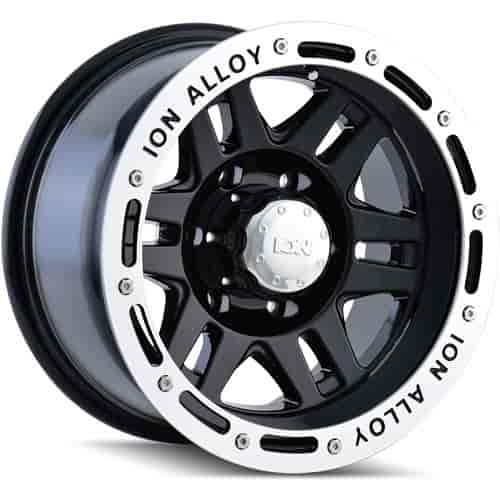 The Wheel Group 133-6165B - Ion 133 Series Black w/Machined Lip Finish Wheels