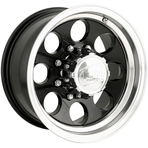 The Wheel Group 171-5883B - Ion 171 Series Black w/Machined Lip Finish Wheels