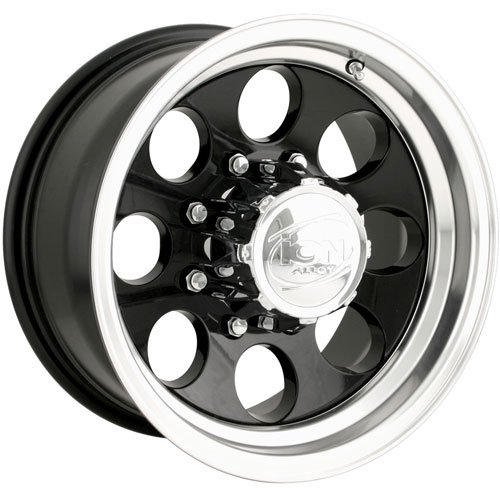 The Wheel Group 171-5185B - Ion 171 Series Black w/Machined Lip Finish Wheels
