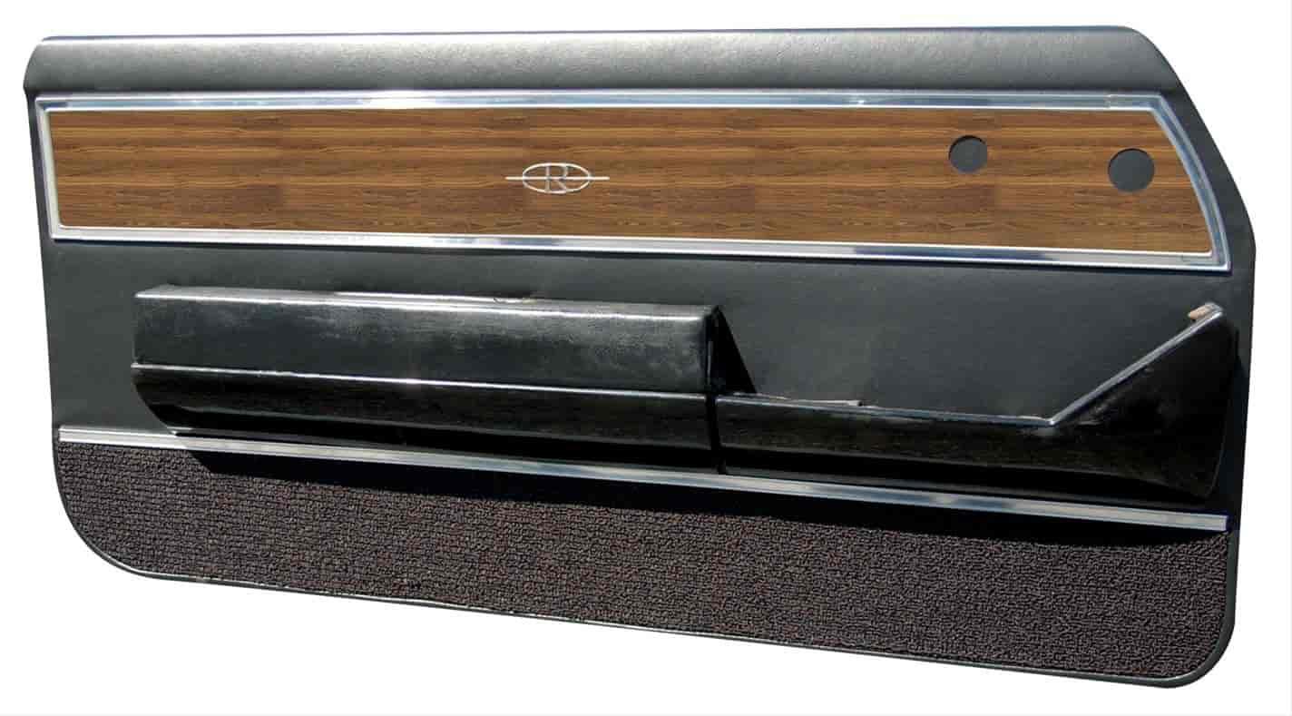 Distinctive Industries 099450black 1971 1972 Buick Riviera Custom Interior Unassembled Front Door Panel Set Jegs