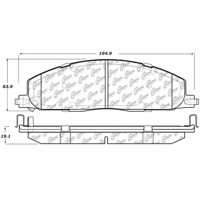 StopTech 104-13170 PosiQuiet Semi Met Pads 2006-2015 Dodge