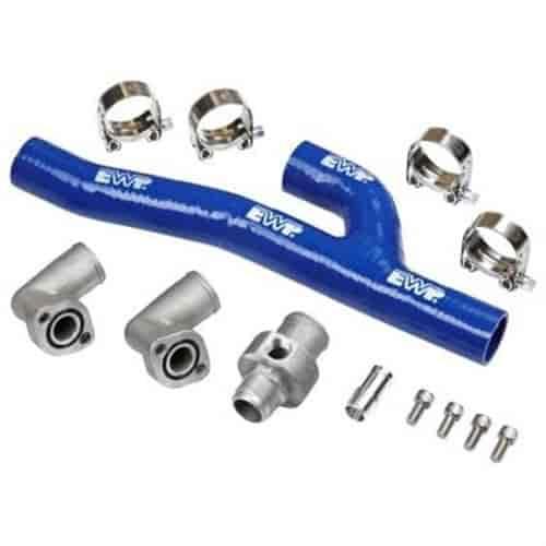 8610 Davies Craig Chevy Small Block V8 Header Adapter Kit Blue