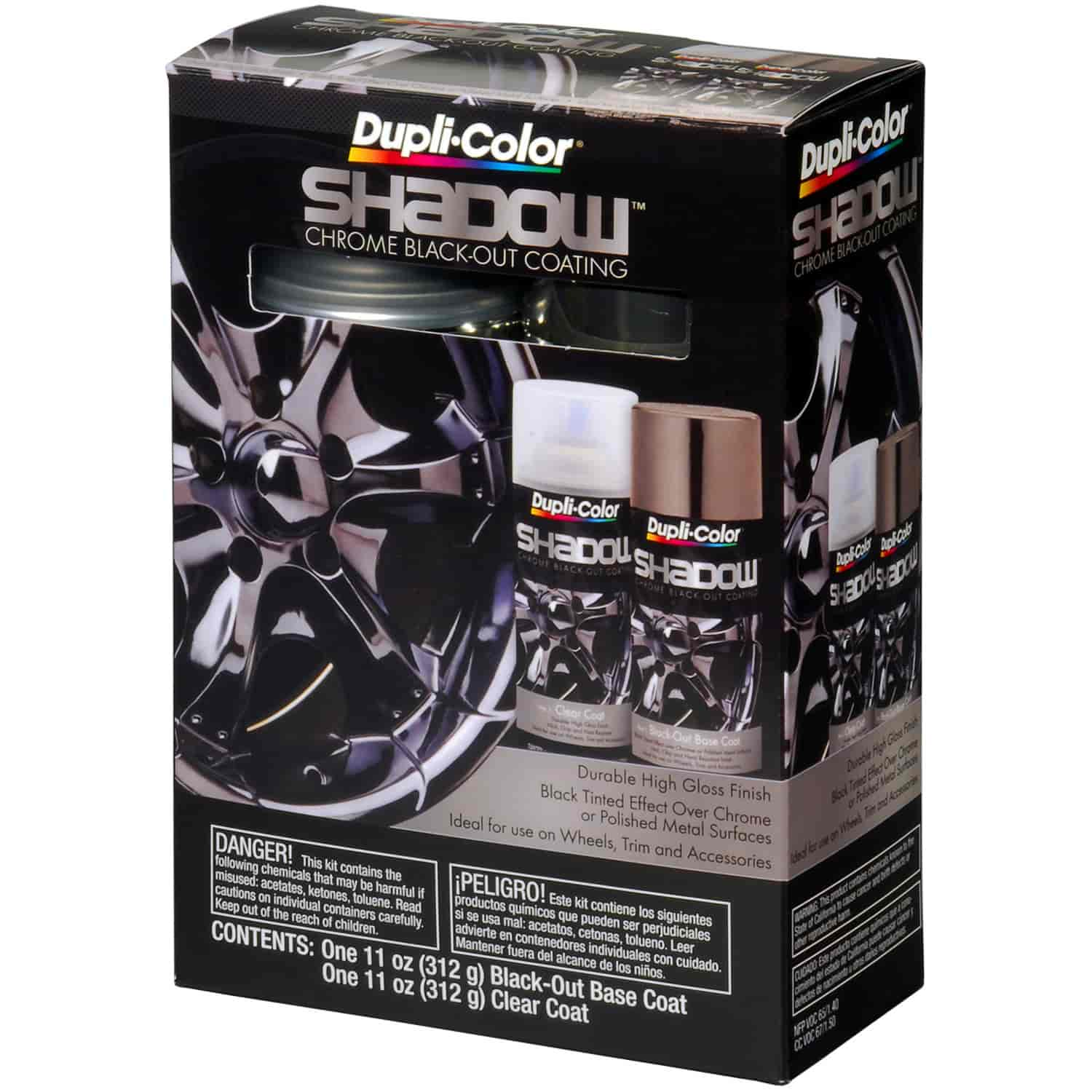 Duplicolor SHD1000 - Duplicolor Shadow Chrome Black-Out Coating Kit