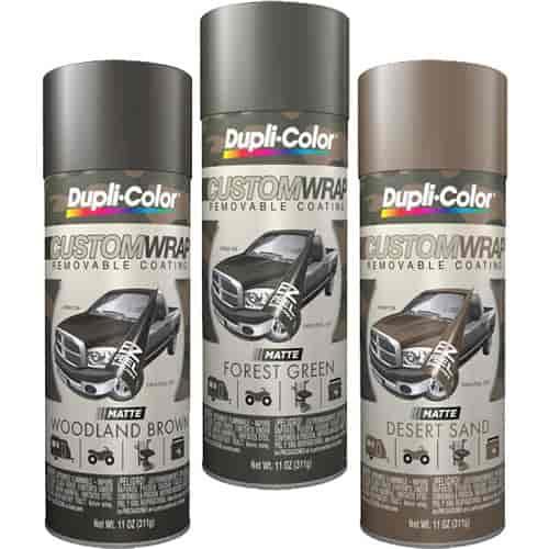 Duplicolor Camowrap Custom Wrap Camo Kit Includes 11oz Matte Forest Green Custom Wrap Jegs