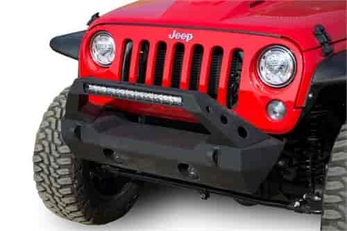 DV8 Offroad FS-25 Stubby Light Bar Bumper for 2007-2018 Jeep Wrangler JK  and 2018-2019 Jeep Wrangler JL