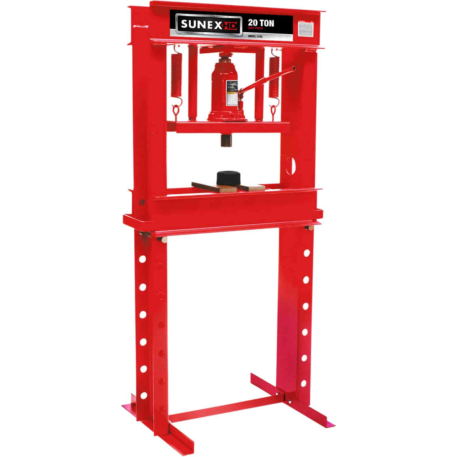 sunex 5720 20 ton hydraulic shop press made in the usa jegs. Black Bedroom Furniture Sets. Home Design Ideas
