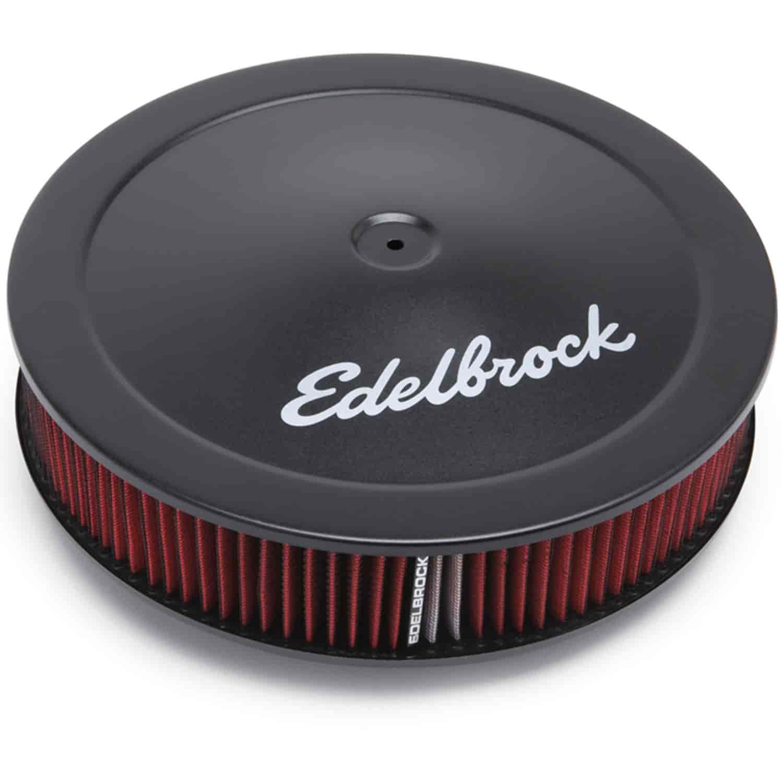 "14/"" Diameter 3/"" Filter Edelbrock 1223 Black Air Cleaner for Edelbrock Carbs"
