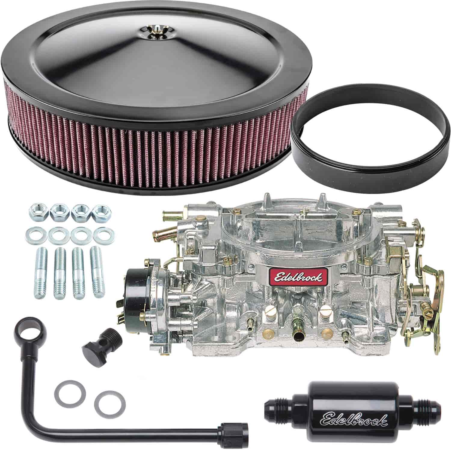 Edelbrock Performer Series 600 CFM Black Electric Choke carburetor Kit