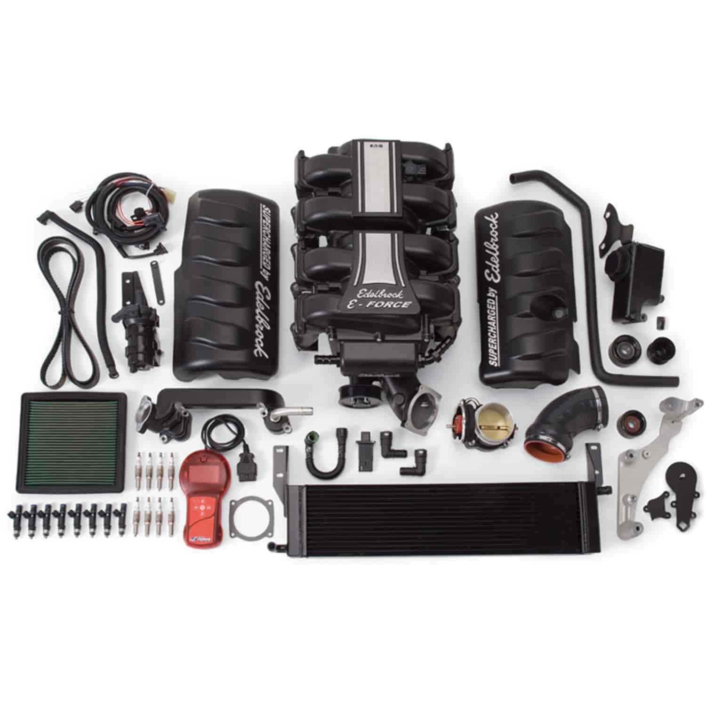 Ford Mustang Edelbrock Supercharger: Edelbrock 1580: E-Force Stage 1 Supercharger Kit For 2005