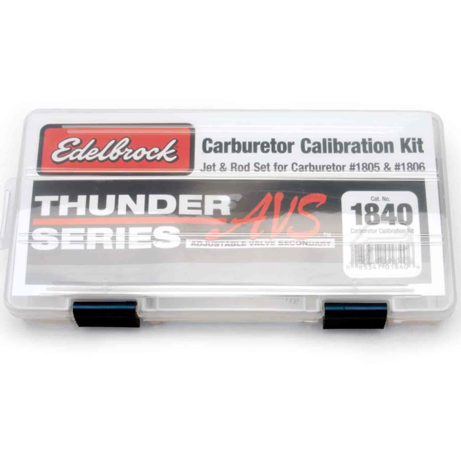 Edelbrock 1840 - Edelbrock Carburetor Calibration Kits