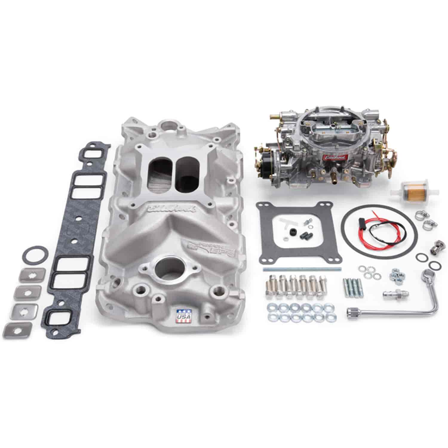 Edelbrock 2021 Single-Quad Manifold And Carb Kit