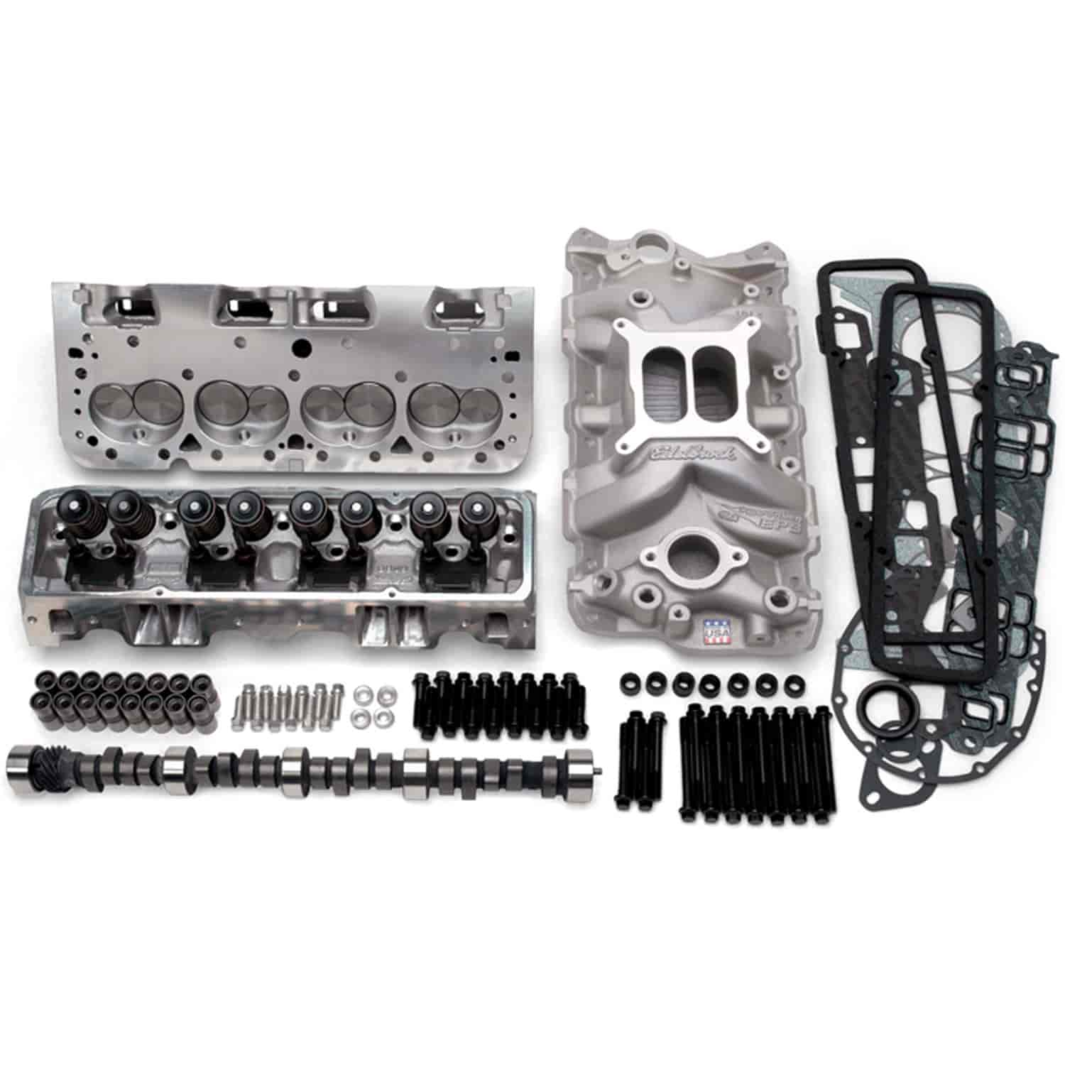 Edelbrock E-Street Power Package Top End Kit for 1955-1986 Small Block Chevy