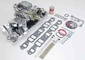 Edelbrock 20224 - Edelbrock Single-Quad Intake Manifold and Carb Kits